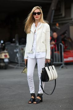 Street Style: Paris Fashion Week Spring 2014 - Joanna Hillman in Céline shoes and
