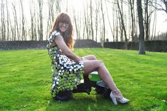 The dress is lovely, the best thing for spring.