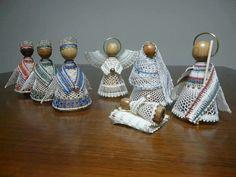 Christmas Nativity, Christmas Holidays, Christmas Decorations, Types Of Lace, Lace Making, Bobbin Lace, String Art, Lana, Tatting