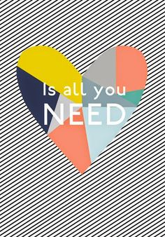 Love is All You Need, via Print & Pattern Valentines Illustration, Love Illustration, Hand Drawn Arrows, Sparks Joy, High School Art, Design Seeds, Photoshop, All You Need Is Love, Valentine Day Cards