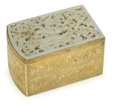 White Jade inset box, Ming Dynasty. ASIAN ARTS - SALE 1498 - LOT 331 - FREEMAN'S