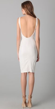 I NEED a white backless dress like this. Seriously, I need a seamstress