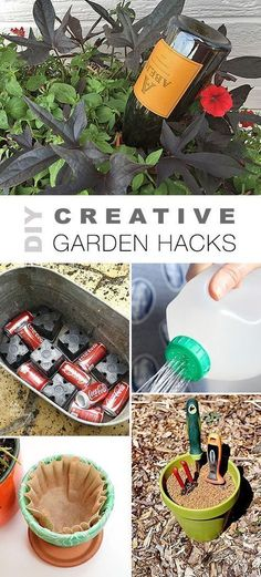Garden Landscaping Layout Check out all these DIY Creative Garden Hacks! Lots of great ideas & tutorials like the wine bottle watering trick, self cleaning garden tool storage, budget watering can and lots of other projects! Diy Garden Projects, Diy Garden Decor, Garden Tools, Garden Ideas, Organic Gardening, Gardening Tips, Magic Garden, Pot Jardin, Invasive Plants