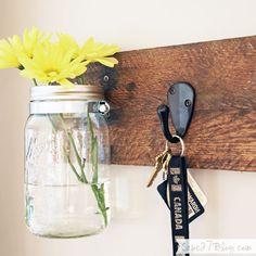 DIY Mason Jar Vase &