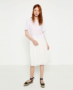 ZARA - WOMAN - PLEATED MIDI SKIRT