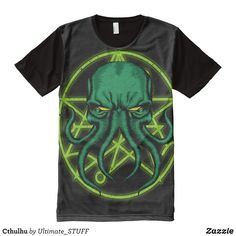 Cthulhu All-Over-Print Shirt - Visually Stunning Graphic T-Shirts By Talented Fashion Designers - #shirts #tshirts #print #mensfashion #apparel #shopping #bargain #sale #outfit #stylish #cool #graphicdesign #trendy #fashion #design #fashiondesign #designer #fashiondesigner #style