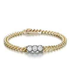 Trio Bracelet From the Signature collection, set with carat of brilliant cut diamonds in Georgian cut-down setting, which can be effortlessly layered and mixed. 18k Gold Bracelet, Diamond Bracelets, Eternity Ring Diamond, Signature Collection, Diamond Cuts, Wedding Rings, Jewellery, Engagement Rings, Stone