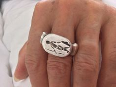 The same rare ring from ancient Afghanistan worn !