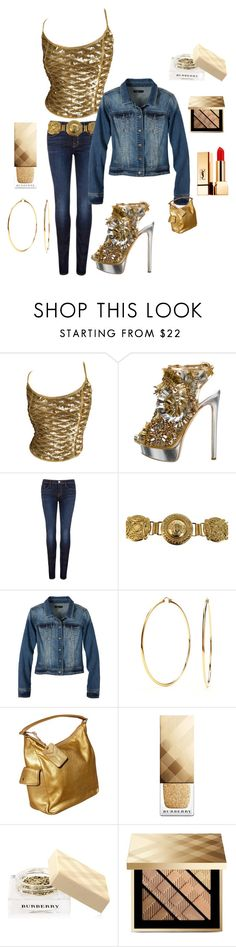 """Casual but always SEXY!"" by kotnourka ❤ liked on Polyvore featuring Salvatore Ferragamo, Dsquared2, J Brand, Versace, prAna, Nadri, Yves Saint Laurent and Burberry"
