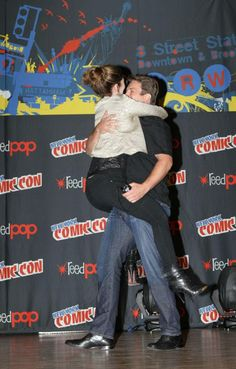 Jewel Staite's reaction to a surprise arrival by Nathan Fillion at the SDCC Firefly panel.