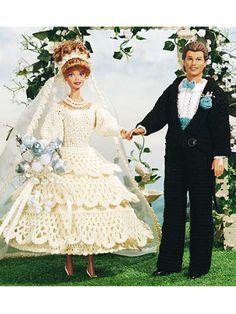 #June #Barbie #Bride and #Ken #Groom #Crochet #Patterns/Free-crochet.com