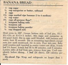 Betty crocker banana bread. (Dads recipe ) | Desserts ...