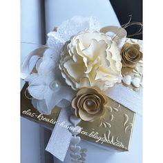 Elas-Kreativ-Händchen: Explosionsbox zur goldenen Hochzeit Stampinup, Blog, Gift Wrapping, Gifts, Book Folding, Gold Weddings, Wedding Anniversary, Tutorials, Paper Wrapping