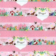 November Books German Fairy Tale Border 100% Japanese Cotton Fabric
