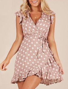 Candid Muqgew Elegant Casual Sexy Sleeveless Girls Summer Dress Short Sleeve Solid Color Summer Ruffle Loose Swing Casual Dress Women's Clothing