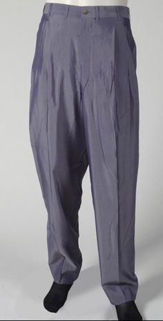 Philadelphia Museum  Man's Trousers  Made in Japan, Asia c. 1997  Designed by Yohji Yamamoto, Japanese, born 1943. Worn by John Cale, born 1942, Garnant, South Wales.  Pale blue rayon twill Size XL  Currently not on view  2002-24-36  125th Anniversary Acquisition. Gift from the private collection of John Cale, 2002