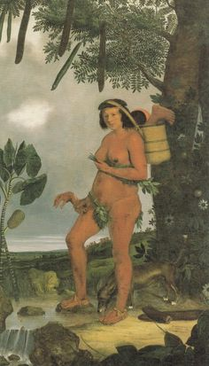 Albert Eckhout (circa T Tapuia woman Mulher Tapuia 1641 264 × 159 cm Current location: National Museum of Denmark Albert Eckhout, Anthropologie, Stefan Zweig, Dream Pictures, Indigenous Tribes, Dutch Painters, Dutch Artists, Nassau, National Museum