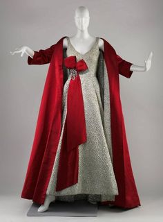 Stunning silver and red ensemble by Arnold Scaasi, 1958  The Museum of Fine Arts, Boston