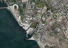 master plan for sant'elia district, cagliari, sardinia