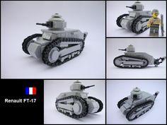 MILITARY MICRO MACHINE WW1 RENAULT FT17 FT-17 FRENCH LIGHT TANK TAN CAMO