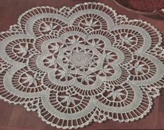 1940 Starched Bowl & Doily Vintage Crochet by knittedcouture