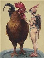 Gallo y Tú by Roberto Fabelo