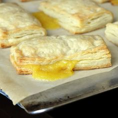Lemon Sour Cream Pastry Turnovers - Love that the the pastry dough is made from scratch and not a package
