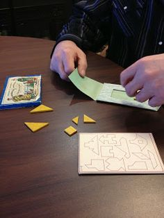 Constructive Triangles in an Adult Day Program. Elderly Care, Triangles, Montessori, Activities, Day, Blog, Crafts, Triangle Shape, Blogging