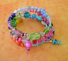 Boho Bracelet Bohemian Jewelry Colorful Bracelet by BohoStyleMe