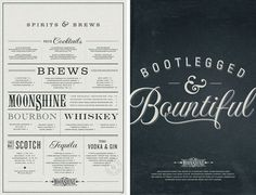 Moonshine Menus Texas based Design studio Make has created menu's for the new Moonshine restaurant. I have to tell you as a designer, there's nothing I love more than beautiful designed menu's with beautifully made food.  #menu