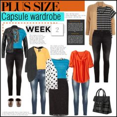 Week 2 plus size outfits from capsule wardrobe 1
