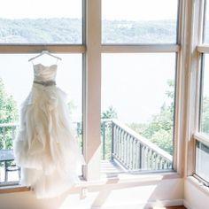 Buttermilk Falls Inn Wedding - Vera Wang Diana Gown - Erin Braun www.erinbraundesign.com custom accessory   Twah Dougherty Photography