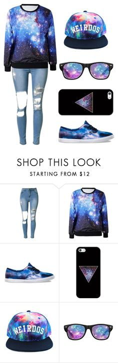 """""""Random Galaxy"""" by nerdy-kitten ❤ liked on Polyvore featuring Vans and Casetify"""