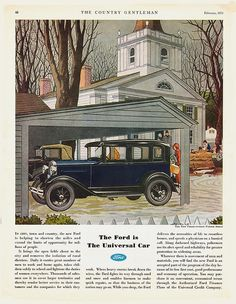 The Country Gentleman, February 1931, Model A Ford Fordor Sedan Magazine Ad by Boats-n-Cars, via Flickr