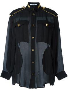 Givenchy блузка в стиле милитари