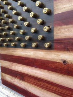 Military Amendment Wood American Flag w brass bullet stars (Second Amendment Right to Bear Arms), Diy And Crafts, Rustic Wood Amendment Right to Bear Arms Bullet Star American Flag Sizes: x x x Handmade featuring 50 spent brass sh. American Flag Sizes, American Flag Wood, Woodworking Furniture, Woodworking Projects, Wood Furniture, Woodworking Shop, Popular Woodworking, Woodworking Equipment, Woodworking Patterns