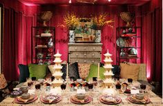 Cathy Kincaid and Irving and Fine table for Neiman Marcus Dallas via Lonny and Belclaire House