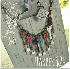 A necklace makes Harper! What more could you ask for? $24 www.plunderdesign.com/kimjohnson