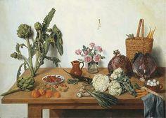 Jan Josef Horemans II  Fruits and Vegetables on a Table  1773