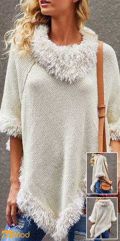 2019 fall sweaters wardrobe @ your bff to celebrate the Christmas party~ Liligal cute holiday sweaters, fall winter outfit ideas, shop now~ Fall Sweaters, Casual Sweaters, Sweaters For Women, Holiday Sweaters, Winter Fashion Casual, Trendy Fashion, Casual Winter, Winter Mode Outfits, Trendy Tops For Women