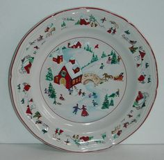 Farberware China WHITE CHRISTMAS 391 Dinner Plate (s) KATHERINE BABANOVSKY 1995 | eBay