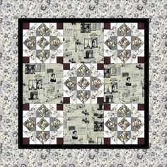 Beginner Wall Hanging Pattern for large prints, Paris fabric,  easy quilt pattern - Jolie