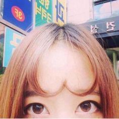 韓国でこんな前髪が流行ってんだって  アホっぽい