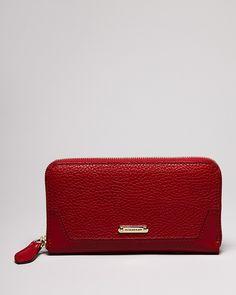 Burberry Wallet - London Leather Zip Around | Bloomingdale's