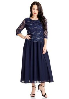 Gift Ideas // Achieve elegance without so much effort when you put on this charming navy floral lace sequined long dress. Shop online here. Dressy Dresses, Lovely Dresses, Elegant Dresses, Dresses For Work, Classy Dress, Classy Outfits, Stylish Outfits, Fashion Outfits, Suits For Women