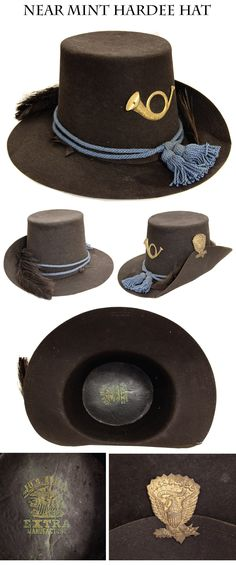 "Near Mint Condition Regulation Hardee or ""Jeff Davis"" Hat: the 1858 Dress Hat ... The 1855 dress hat for cavalry looked so good that the arm..."
