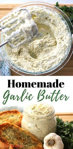 This is the most amazing garlic butter! This delicious and creamy garlic butter is perfect when making garlic bread, sautéing vegetables or to give your steak a burst of flavor! # butter # Easy Recipes vegetables How To Make Garlic Butter Garlic Butter Spread, Homemade Garlic Butter, Garlic Butter For Bread, Garlic Spread Recipe Easy, Easy Garlic Bread, Vegan Garlic Bread, Rosemary Bread, Easy Bread, Steak Butter