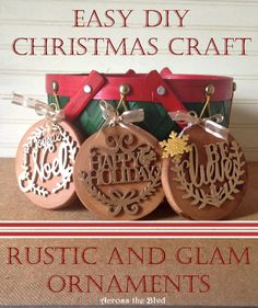 FEATURED!  Rustic and Glam Christmas Ornaments Across the Blvd