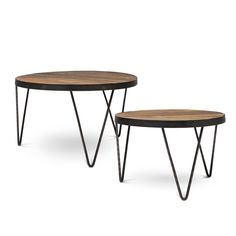 Foreside Home & Garden - Hair-Pin Coffee Tables, Set of 2