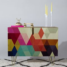 A gorgeous and colorful sideboard that wants to become your very favorite piece of furniture. | 31 Stylish Pieces Of Decor You Can Get Right Now With Free Shipping At AllModern
